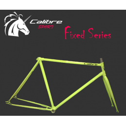 Calibre Set Telaio + Forcella Fixed Yellow Fluo