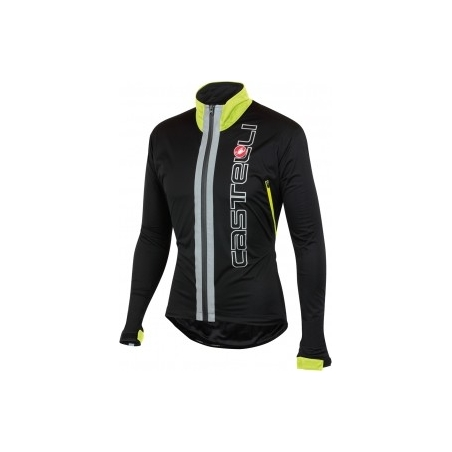 Castelli Jacket Confronto Black/Yellow Fluo