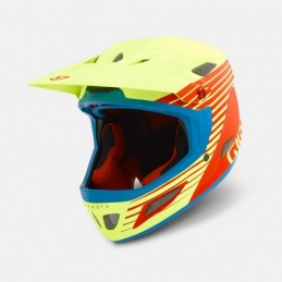 Caschi Giro Helmet Cipher Mat Glowing Red/Yellow Fluo GR081