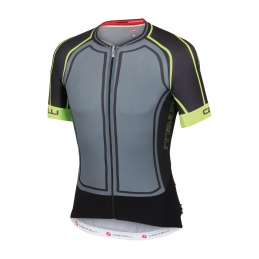 Castelli Maglia Aero Race 5.0 Turbulence/Black/Yellow Fluo 15011_005