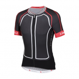 Castelli Maglia Aero Race 5.0 Black/White/Red