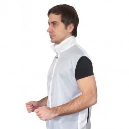 Gilet Antivento Deko Gilet Ciclista Pocket Bianco A00814