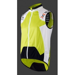 X-Bionic Gilet Spherewind Upd Ow Green Lime/White/Black 2016