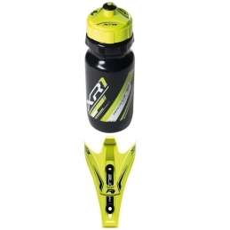 Portaborracce Raceone Kit Portaborraccia + Borraccia Yellow/Black Fluo  307860860