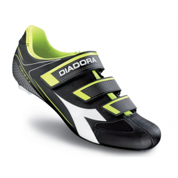 Diadora Scarpe Road Trivex II Black/White/Yellow DD107