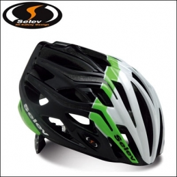 Caschi Selev Helmets Mp3 White/Green/Black