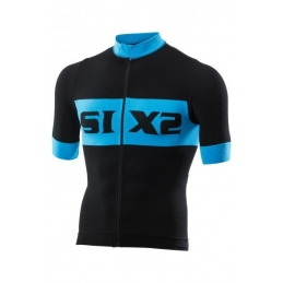 Maglie Sixs Maglia Estiva Luxury Black/Light Blue BIKE3 LUXURY