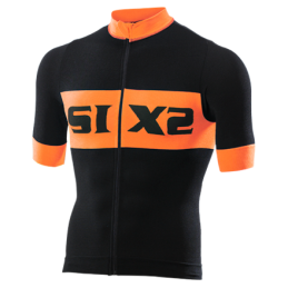 Maglie Sixs Maglia Estiva Luxury Black/Orange Fluo BIKE3 LUXURY