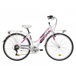 "Atala City Donna Boston 28"" 6V Bianco/Fuxia"