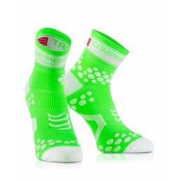 Compressport Calze Estive Pro Racing V2 Green Fluo RSHV26140