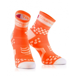 Compressport Calze Estive Pro Racing V2 Arancio Fluo RSHV22111