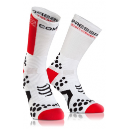 Compressport Calze Estive Pro Racing V2.1 White/Red BSHV21200
