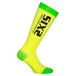 Sixs Calze A Compressione Recovery Giallo/Verde Fluo RECOVERY SOCKS