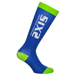Sixs Calze A Compressione Recovery Blu/Verde RECOVERY SOCKS