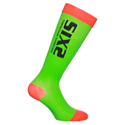 Calze Sixs Calze A Compressione Recovery Verde/Rosso Fluo RECOVERY SOCKS