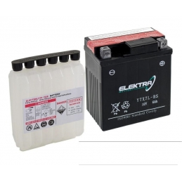 Elektra Batteria Moto YTX7A-BS Con Kit Acido