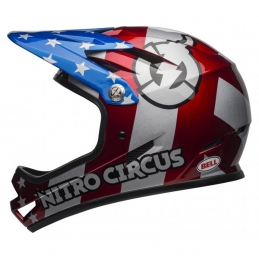 Bell Casco Sanction Red/Silver/Blue Nitro BS191