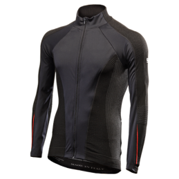 Maglie Sixs Maglia Windshell Bike Antivento Black/Red WIND JERSEY AW