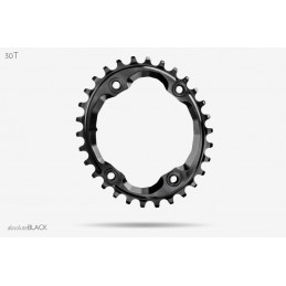 Corone AbsoluteBlack Corona Oval 96 BCD N/W Chainring For XTR9000