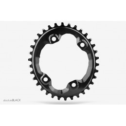 Corone AbsoluteBlack Corona Oval 96 BCD N/W Chainring For XT M8000