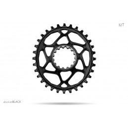 Corone AbsoluteBlack Corona Oval E*Thirteen N/W Direct Mount Chainring