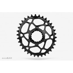 Corone AbsoluteBlack Corona Oval Direct Mount N/W Chainring For Cannondale