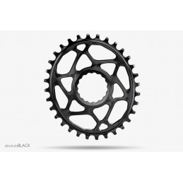 Corone AbsoluteBlack Corona Oval Direct Mount N/W Chainring For Race Face Cinch