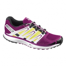 Salomon Scarpe Running X-Scream W Purple/Yellow/White