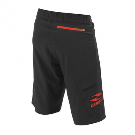 Gist Pantaloncino G-Out Mtb Nero/Rosso