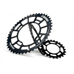 Rotor Corona Ovale BCD104*4 34d Nero single speed