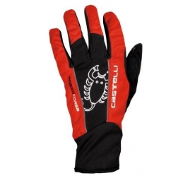 Castelli Guanti Leggenda Glove Black Red 13530_023